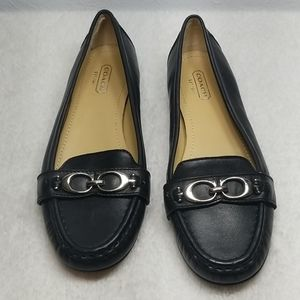 Coach Black Leather Loafers Eloise Size 7